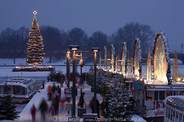 schiffe promenade winterbilder hamburg alster christbaum. Black Bedroom Furniture Sets. Home Design Ideas